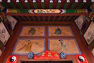Art, Details from the Taoist Bai Long Wang Miao, White Dragon King Temple, Beiyue Hengshan Mountain, Datong, Hunyuan County, Shanxi Province, China