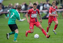 Oliver Kjærgaard (FC Helsingør) under kampen i Sydbank Pokalen, 1. runde, mellem Bispebjerg Boldklub og FC Helsingør den 2. september 2020 i Lersø Parken (Foto: Claus Birch).
