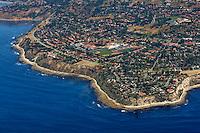 Aerial view looking east/northeast down on Palos Verdes.