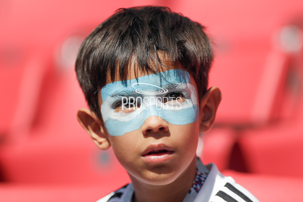 Argentina fan during the 2018 FIFA World Cup Russia, Group D football match between Argentina and Iceland on June 16, 2018 at Spartak Stadium in Moscow, Russia - Photo Thiago Bernardes / FramePhoto / ProSportsImages / DPPI