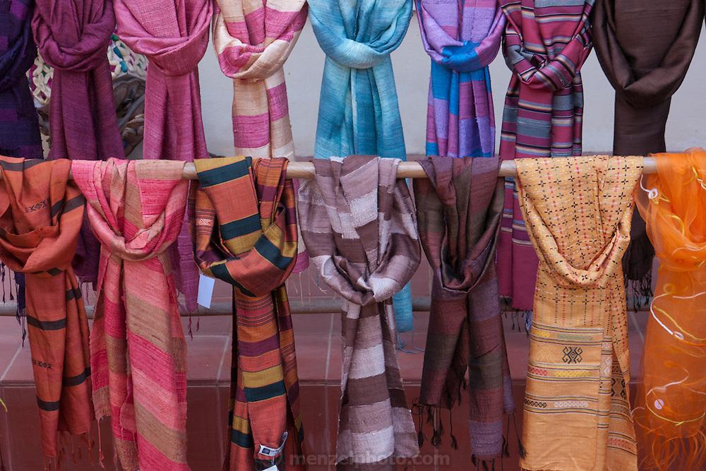 Lao Textile Natural Dye shop and workshop in Luang Prabang, Laos.