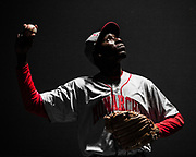 Charles Westley Lattimore, Jr. as Satchel Paige poses for a picture during a dress rehearsal of Satchel Paige and the Kansas City Swing at Ensemble Theater Saturday June 25, 2016. (Michael Starghill, Jr.)