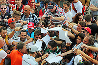 Jenson Button (GBR) McLaren signs autographs for the fans.<br /> Italian Grand Prix, Thursday 4th September 2014. Monza Italy.