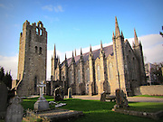 St Maelruan's Church, Tallaght, Dublin, Ireland – church 1829, tower c.15th century