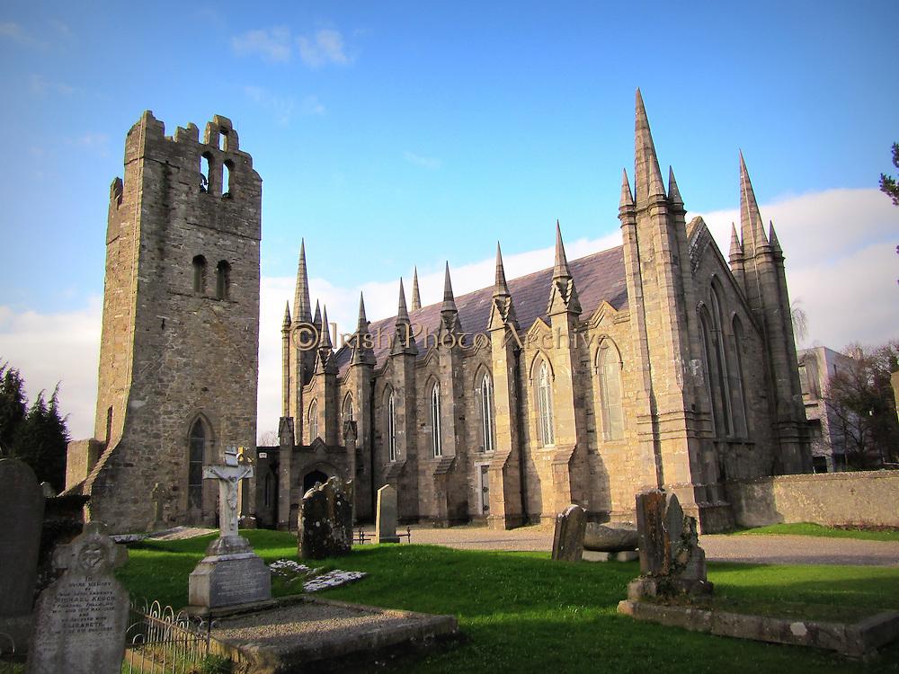 St Maelruan's Church, Tallaght, Dublin, Ireland – church 1829, tower c.15th century