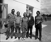New Bottling plant for D.E.Williams..1975..19.06.1975..06.19.1975..19th June 1975..The Minister for Justice, Mr Patrick Cooney TD, officially opened the new one and a half million gallon per annum soft drink facility at Tullamore,Co Offaly. The new plant represents an investment of over a quarter million pounds by the Williams Group. It is hoped that this investment will create further employment for the area...Image taken of some of the employees of the D E Williams, Tullamore facility.