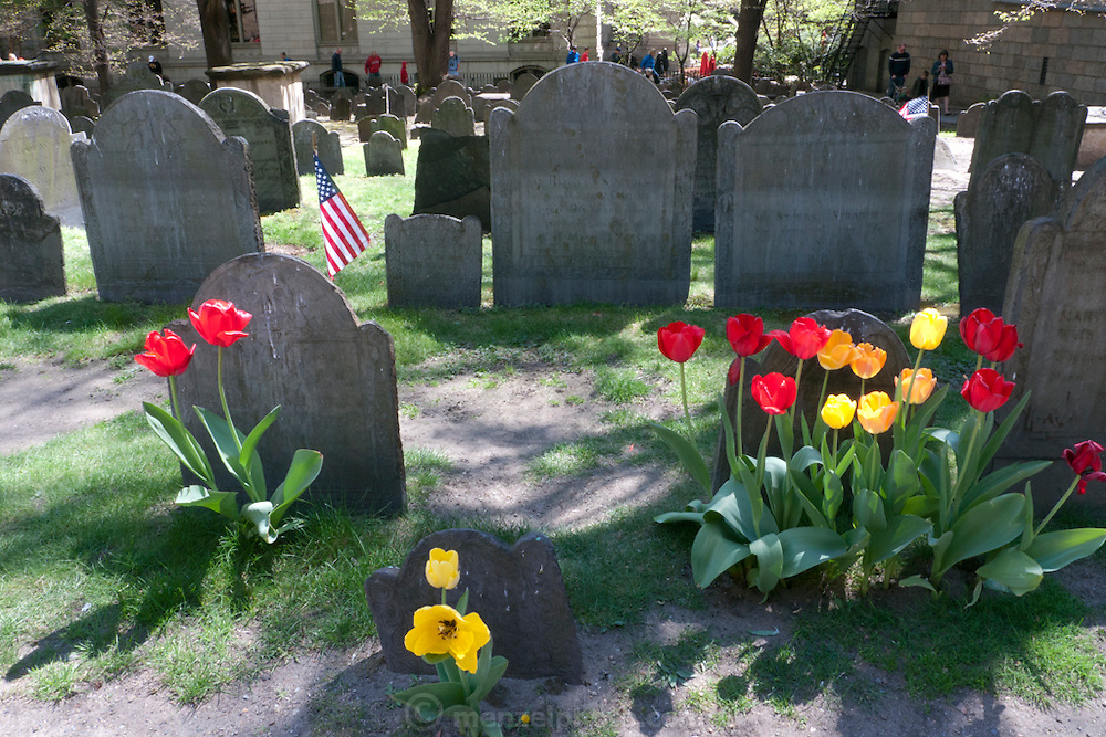 King's Chapel Burial Ground, downtown Boston, MA