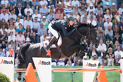 Patrice Delaveau, (FRA), Cortes C - Show Jumping Final Four - Alltech FEI World Equestrian Games™ 2014 - Normandy, France.<br /> © Hippo Foto Team - Jon Stroud<br /> 07/09/2014