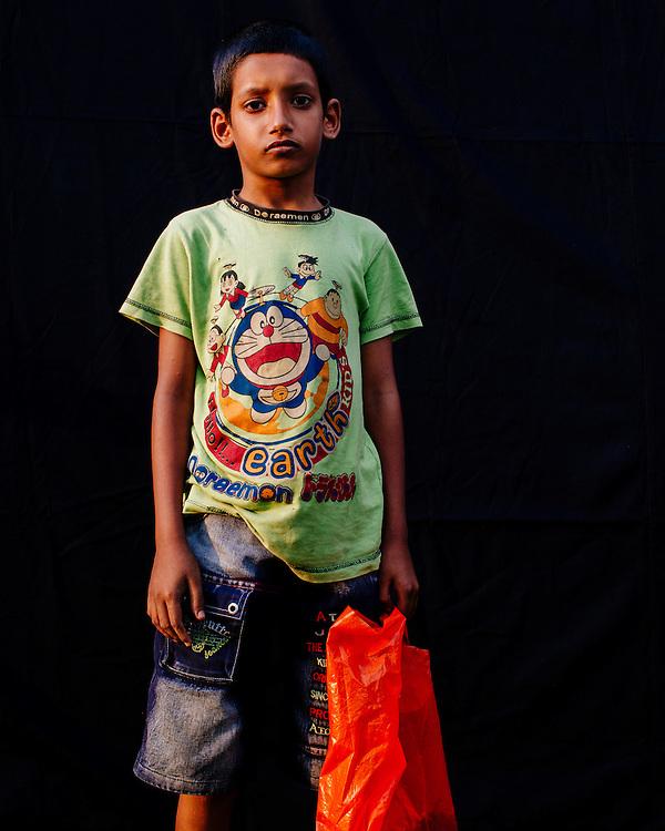 Colour portrait of a boy