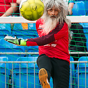 Homeless World Cup in George Square Glasgow. Swiss keeper Ruedi Kalin.<br /> <br /> Picture Robert Perry for The Herald and  Evening Times 11th July 2016