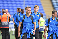 Oxford United Forward, Sam Smith (9) arrives at Fratton park during the EFL Sky Bet League 1 match between Portsmouth and Oxford United at Fratton Park, Portsmouth, England on 18 August 2018.