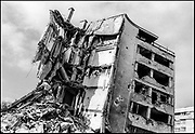 During the 1992-1995 war, Grbavica was occupied early by the Army of Republika Srpska and remained under Serb control throughout the siege. From the tall residential buildings, Serb snipers targeted the Sarajevo populace along Sniper Alley. The neighbourhood was heavily looted and destroyed.