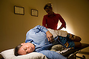 Dave Pear at physiotherapy session.  Therapist: Kendra Liere 425-391-6794 (Kendra is NOT Dave's regular therapist).