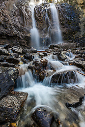 Tangle Falls in Jasper National Park.