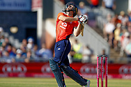 England T20 wicket keeper Jos Butler skies on that fall short during the International T20 match between England and India at Old Trafford, Manchester, England on 3 July 2018. Picture by Simon Davies.