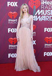 2019 IHeartRadio Music Awards - Arrivals. 14 Mar 2019 Pictured: Elle Fanning. Photo credit: @JenLoweryPhoto / MEGA TheMegaAgency.com +1 888 505 6342