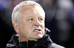 Sheffield United manager Chris Wilder looks on