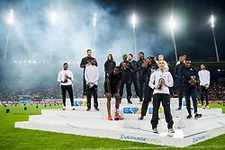 August 30, 2018 - Zurich, SWITZERLAND - 180830 The winners of Diamond League 2018 after the Weltklasse ZŸrich on August 30, 2018 in Zurich..Photo: Vegard Wivestad GrÂ¿tt / BILDBYRN / kod VG / 170212 (Credit Image: © Vegard Wivestad Gr¯Tt/Bildbyran via ZUMA Press)