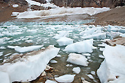 A glacial cirque lake in Jasper National Park