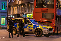 © Licensed to London News Pictures. 02/02/2020. London, UK. Terror attack in Streatham South London as Police shoot dead a knife-wielding suspect in a suicide vest after two people were stabbed. Photo credit: Alex Lentati/LNP