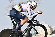 Foto LaPresse - Fabio Ferrari<br /> 22 Febbraio 2021 Abu Dhabi (Emirati Arabi Uniti)<br /> Sport Ciclismo<br /> UAE Tour 2021 -ABU DHABI SPORTS COUNCIL STAGE-<br /> Tappa 2 - Da Al Hudayriyat Island a Al Hudayriyat<br /> Island- ITT - 13 km.<br /> Nella foto: GANNA Filippo(ITA)(INEOS GRENADIERS)<br /> <br /> Photo LaPresse - Fabio Ferrari<br /> February 22 2021 Abu Dhabi (United Arab Emirates) <br /> Sport Cycling<br /> UAE Tour 2021 -ABU DHABI SPORTS COUNCIL STAGE-<br /> Stage 2 - From Al Hudayriyat Island at Hudayriyat<br /> Island - ITT -8,07 miles<br /> In the pic: GANNA Filippo(ITA)(INEOS GRENADIERS)