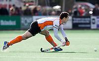 BLOEMENDAAL - HOCKEY -   Marcel Balkestein  van OZ tijdens de hoofdklasse competitiewedstrijd tussen de mannen van Bloemendaal en Oranje-Zwart (2-2). FOTO KOEN SUYK