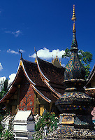 """Vat Xieng Thong in Luang Prabang, Laos, a UNESCO World Heritage Center..with the """"Tree of Life"""" painting on the front.."""