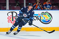 PENTICTON, CANADA - SEPTEMBER 9: Jansen Harkins #58 of Winnipeg Jets warms up against the Edmonton Oilers on September 9, 2017 at the South Okanagan Event Centre in Penticton, British Columbia, Canada.  (Photo by Marissa Baecker/Shoot the Breeze)  *** Local Caption ***