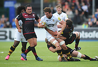 Rugby Union - 2017 / 2018 Aviva Premiership - Saracens vs. Wasps<br /> <br /> Will Rowlands of Wasps and Brad Barritt of Saracens playing in his 200th game at Allianz Park.<br /> <br /> COLORSPORT/ANDREW COWIE