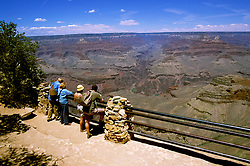 AZ, Arizona, Two couples, tourists, no model release, at South Rim of Grand Canyon National Park, Arizona.Photo Copyright: Lee Foster, lee@fostertravel.com, www.fostertravel.com, (510) 549-2202.azgran218