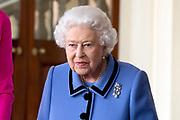 Staatsbezoek van Koning Willem Alexander en Koningin Máxima aan het Verenigd Koninkrijk<br /> <br /> Statevisit of King Willem Alexander and Queen Maxima to the United Kingdom<br /> <br /> Op de foto / On the photo: Afscheid op Buckingham Palace met Koningin Elizabeth<br /> <br /> Farewell at Buckingham Palace with Queen Elizabeth