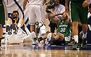 E. New Mexico forward Phil Henry (32) cannot believe a foul call during the first half of the NCAA basketball game between the BYU Cougars and the Eastern New Mexico Greyhounds at the Marriott Center, Tuesday, Dec. 18, 2012.