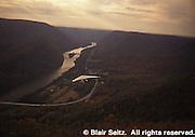 PA landscape, Hang gliding, Susquehanna River, Hyner View State Park