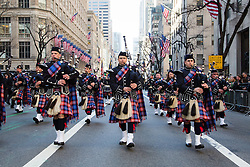 People march during the St. Patrick's Day Parade in New York, the United States on March 17, 2016. Hundreds of thousands of people gathered alongside New York's Fifth Avenue to watch the St. Patrick's Day Parade here on Thursday. EXPA Pictures © 2016, PhotoCredit: EXPA/ Photoshot/ Li Changxiang<br /> <br /> *****ATTENTION - for AUT, SLO, CRO, SRB, BIH, MAZ, SUI only*****