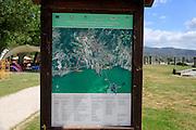 Tourist information sign, Tuoro sul Trasimeno, Umbria, Italy