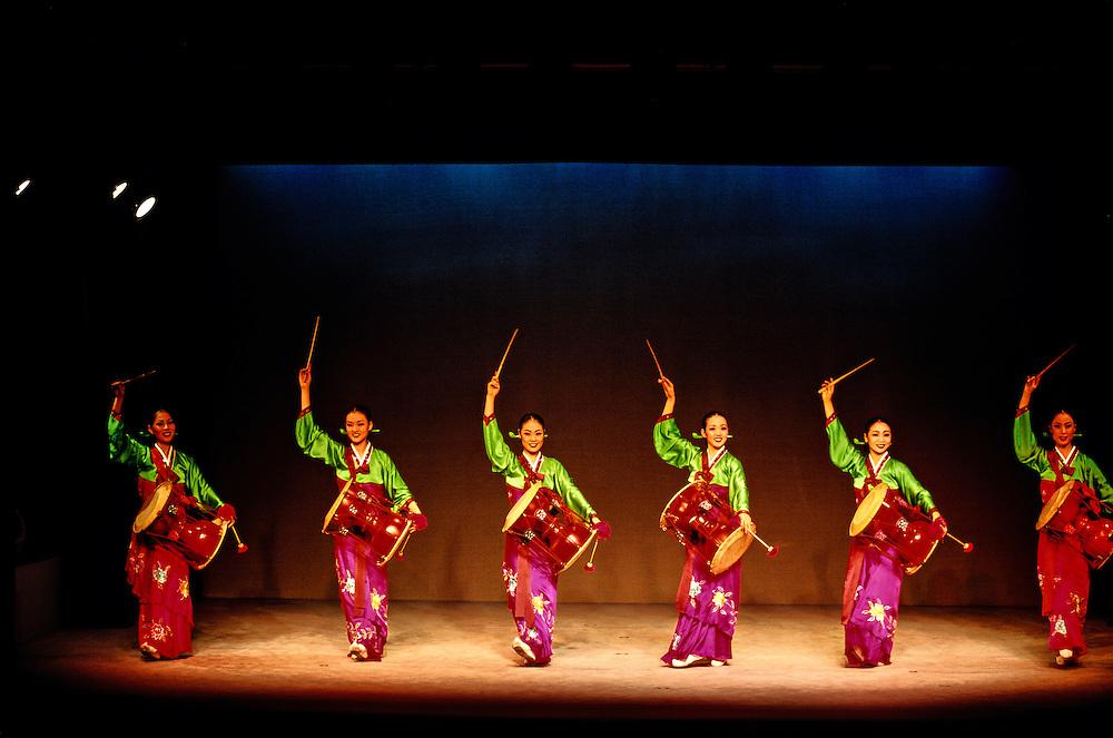 Changgu (hourglass drum), Korean traditional music and dance performance, Korea House, Seoul, South Korea