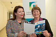 02/07/2013 repro free Lights, camera, action for Galway as the city of the Tribes announces its bid to join UNESCO's Creative Cities network as a City of Film! With the audiovisual sector in the West of Ireland having a direct contribution of €72 million to the region in 2012 and only two other designated cities of film in the world, it signals the significance of the bid on both a national and international scale. Kate O 'Toole, Member of IFB, and Maire Ui Dhroighneain,  Ros Na Run,  were at the annoucement. Picture:Andrew Downes