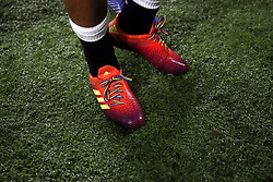 An England player wearing rainbow laces