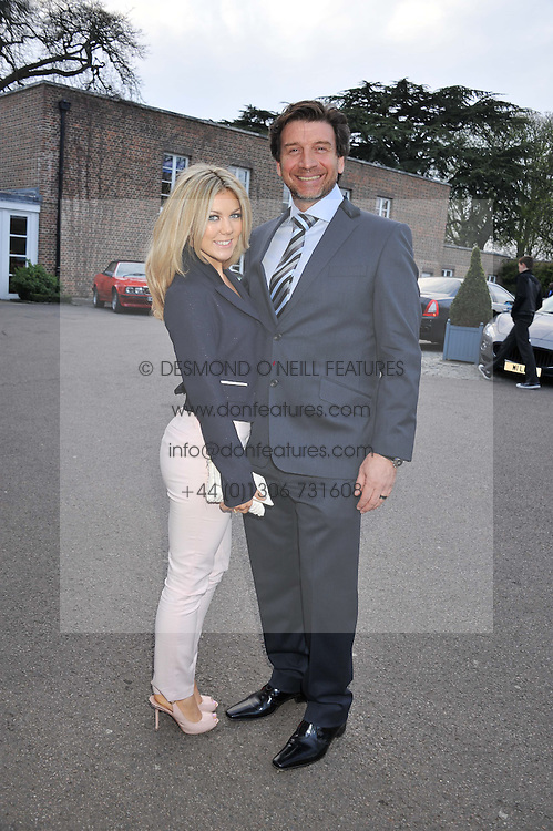 NICK KNOWLES and his wife JESSICA at a VIP dinner hosted by Maserati following the unveiling of the new Maserati 'Quattroporte' at The Hurlingham Club, London on 17th April 2013.