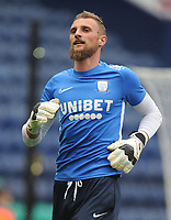 Preston North End's Declan Rudd during the pre-match warm-up <br /> <br /> Photographer Kevin Barnes/CameraSport<br /> <br /> The EFL Sky Bet Championship - Preston North End v Stoke City - Wednesday August 21st 2019 - Deepdale Stadium - Preston<br /> <br /> World Copyright © 2019 CameraSport. All rights reserved. 43 Linden Ave. Countesthorpe. Leicester. England. LE8 5PG - Tel: +44 (0) 116 277 4147 - admin@camerasport.com - www.camerasport.com