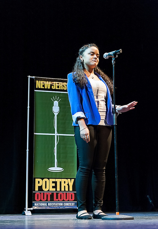 Dayamaris Urena,a contestant in The  Poetry Out Loud, Regional 5,  competition at SOPAC.
