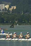 11/07/03/03 .2003 FISA Rowing World Cup - Lucerne.- Switzerland GER LW4X. Rowing Course, Lake Rottsee, Lucerne, SWITZERLAND. [Mandatory Credit: Peter Spurrier:intersport Images]