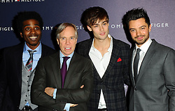 Marques Toliver, Tommy Hilfiger, Douglas Booth and Dominic Cooper at the opening of the new Tommy Hilfiger store on in London on Thursday 1st December 2011. Photo by: i-Images