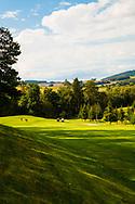 18-09-2015: Golf & Spa Resort Konopiste in Benesov, Tsjechië.<br /> Foto: De green van de par-5 eerste