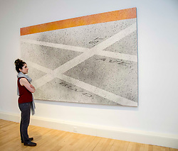 Pictured: Adeline Amar and Blvd- Ave - St (2008)<br /> Ed Ruscha exhibition. Titled, Music from the Balconies, it is the artist's first exhibition at the gallery for a decade<br /> <br /> <br /> Ger Harley | EEm 28 Aprl 2017