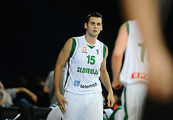 Aleksander Medic of Slovenia during basketball match between National teams of Slovenia and Germany in Division A of U16 Men European Championship Lithuania 2012, on July 20, 2012 in Panevezys, Lithuania. (Photo by Robertas Dackus / Sportida.com)