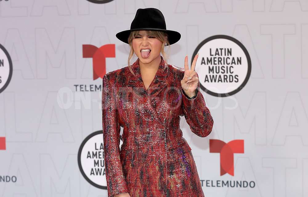 """2021 LATIN AMERICAN MUSIC AWARDS -- """"Red Carpet"""" -- Pictured: Sofia Reyes at the BB&T Center in Sunrise, FL on April 15, 2021 -- (Photo by: Aaron Davidson/Telemundo)"""