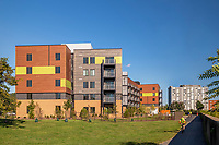 Exterior image of Apex Apartment Community in Arlington VA by Jeffrey Sauers of CPI Productions
