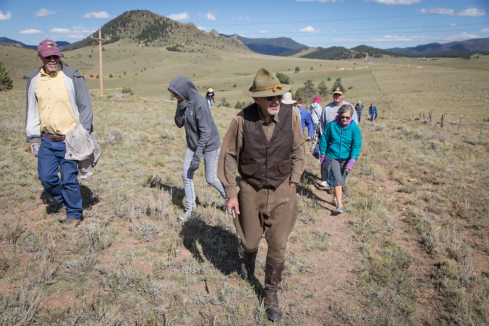 During the Wet Mountain Western Pilgrimage, Gary Ziegler and Amy Finger explain the history and prehistory of their Bear Basin Ranch, including a tour of trees modified by the Ute tribe.