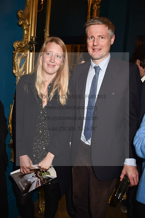 Zac & Alice Goldsmith at Mark Shand's Adventures and His Cabinet Of Curiosities VIP private view, 32 Portland Place, London, England. 20 February 2018.
